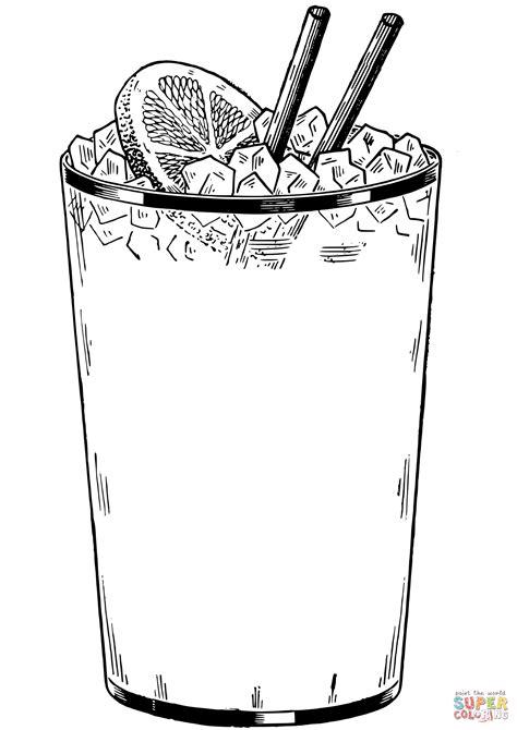 dibujos de bebidas para colorear dibujo de vaso de bebida helada para colorear dibujos