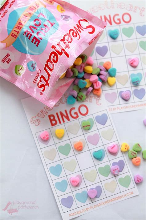 Conversation Hearts Bingo Cards Template by Conversation Bingo Cards