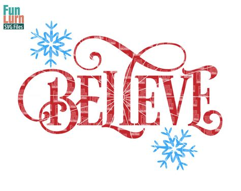 Believe SVG - FunLurn Free Clip Art Christmas Words