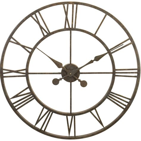 numeral design wall clock large from cbk home wrought iron wall clock l28 30 clockshops