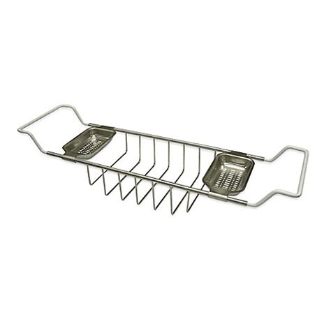 adjustable bathtub caddy buy kingston brass adjustable bathtub caddy in satin