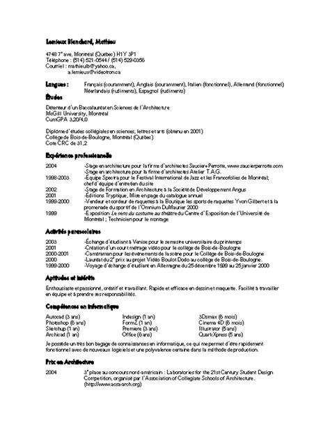 file layout en francais resume format format de cv en francais
