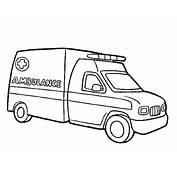 Auto Kleurplaten Ambulance
