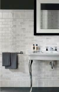 Subway Tile Bathroom Ideas Marble Subway Tile Bathrooms Cute Decor