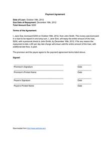 Repayment Contract Template by Installment Loan Contract Form Low Interest Loans For 1000