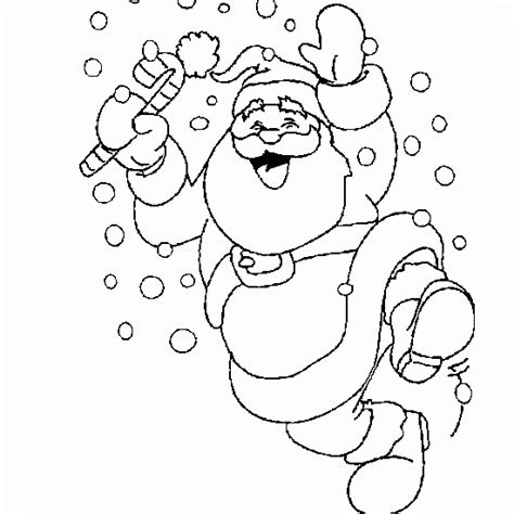 dancing santa coloring page coloring of santa claus dancing in the snow christmas