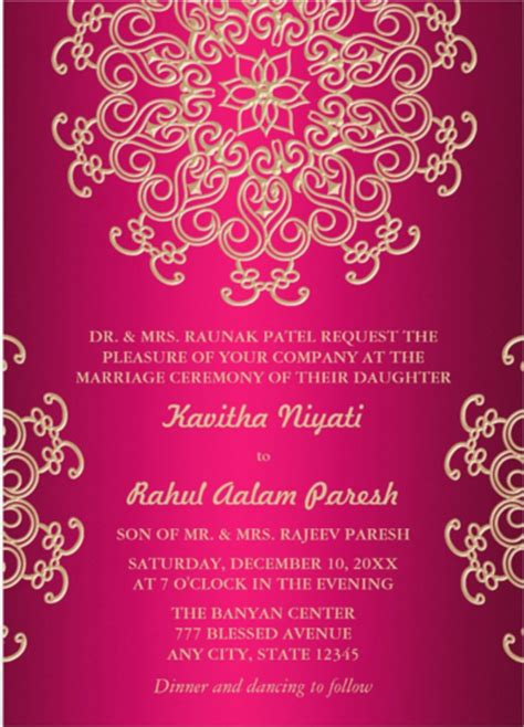 hindu invitation card template indian wedding card templates free studio