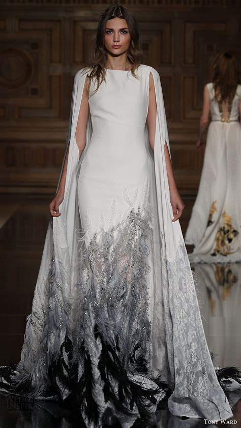 wedding dress cape tony ward fall winter 2016 2017 couture collection dress