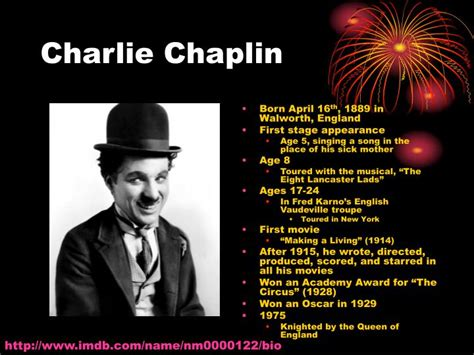 charlie chaplin biography powerpoint ppt entertainment of the late 1800s early 1900s