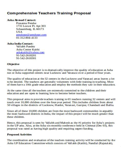 proposal format for conducting seminar 7 training project proposal templates free sle