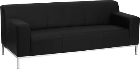 commercial couches contemporary black leather commercial sofa with stainless