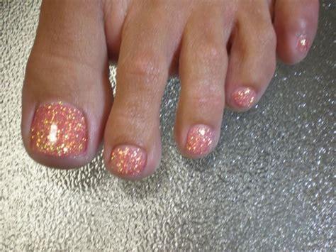 Nägel Lackieren Mit Glitzer by Glitter Gel Nails Nail Designs Rosa Und