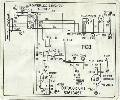 carrier split ac wiring diagram window ac wiring diagram
