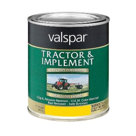 buy the valspar mccloskey 18 4432 06 05 tractor implement paint yellow quart hardware world