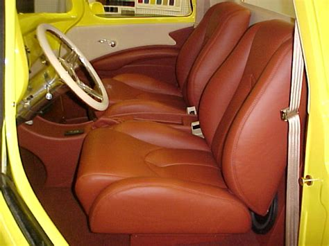 Interior Upholstery by 1959 Chevrolet Turck Yellow With Flames
