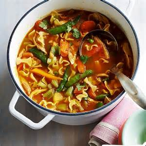 spring vegetable chicken noodle soup recipe eat your books
