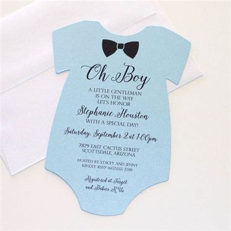 onesie invitation template 1000 ideas about boy shower invitations on