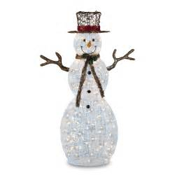 snowman outdoor lights trimming traditions 150 clear light icy snowman