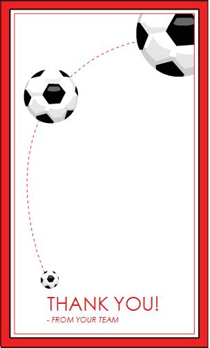 soccer thank you card template school student activity templates formal word templates
