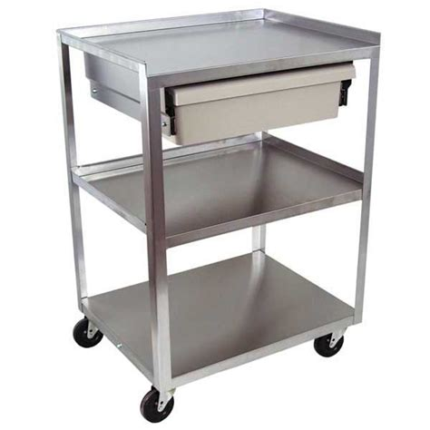 3 shelf stainless steel carts with drawers utility carts