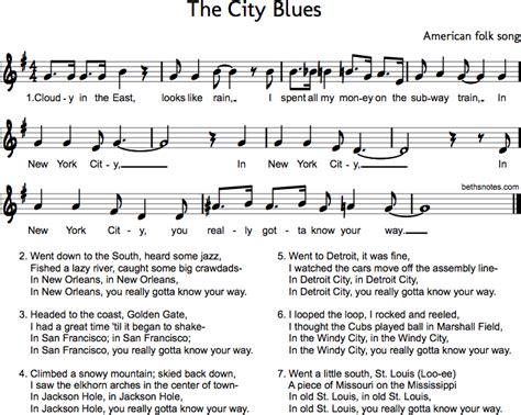 new blues songs the city blues beth s notes
