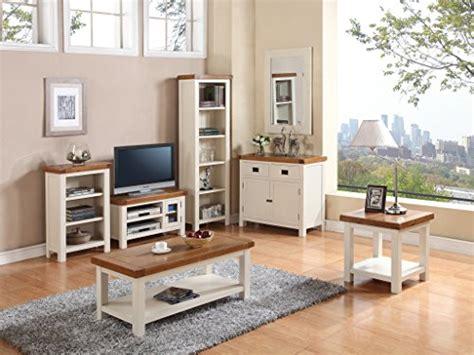 Oak Livingroom Furniture Alba Oak Small Straight Tv Unit Finish Oak White