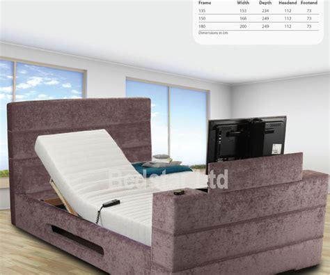 No Mattress by Sweet Dreams Mazarine 5ft Kingsize Adjustable Tv Bed