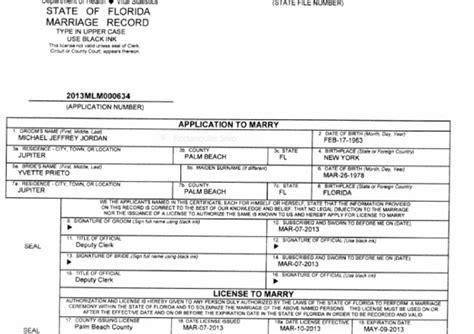 Jordan lash marriage license