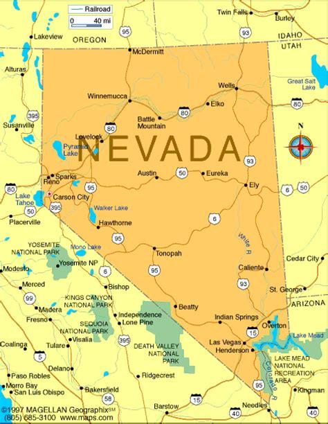 reno usa map nevada map and nevada satellite images