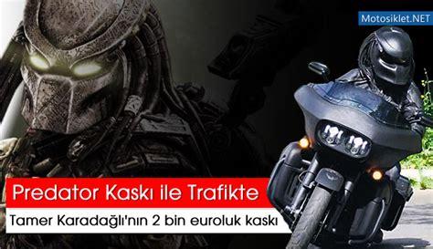 tamer karadagli predator kaski ile istanbul trafiginde