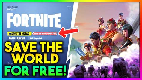 How To Save The World how to get fortnite save the world for free working