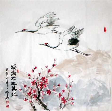 crane painting crane 2360075 69cm x 69cm 27 x 27 - Crane Painting