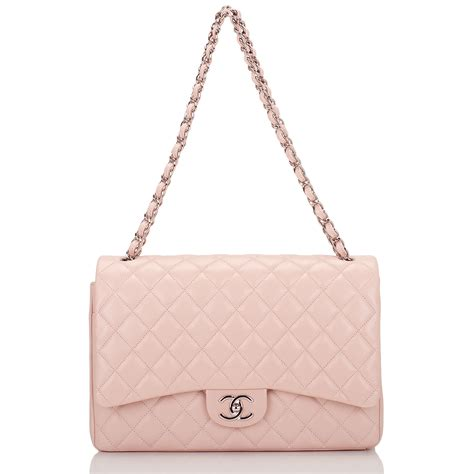 New Chanel Maxi 28x17x9cm Semiori chanel quilted caviar maxi classic flap bag light pink world s best