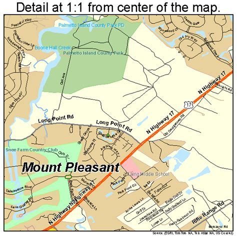 map of mt pleasant sc mount pleasant south carolina map 4548535