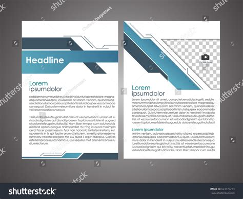 book cover layout size annual report leaflet brochure flyer template stock vector