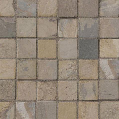 autumn slate 2x2 tumbled tile mosaics