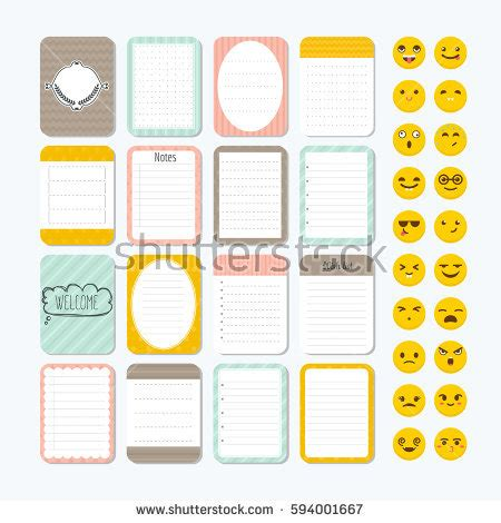 paper design elements 25 vector collection various note papers sheets paper stock vector