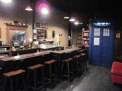 doctor who themed bathroom the way station bar doctor who bar with a tardis girl