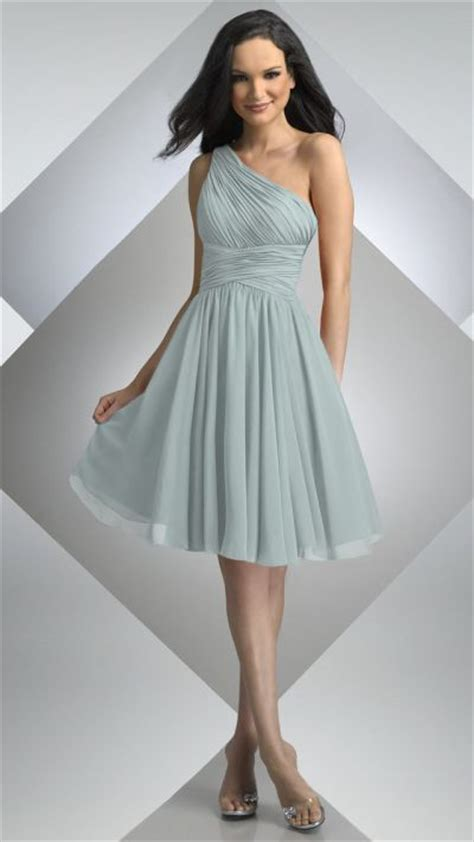 Bj Line Dress Blue bari one shoulder chiffon bridesmaid dress 230