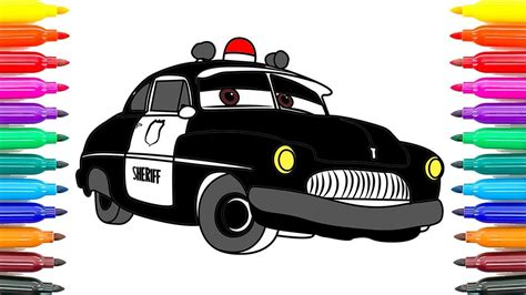 Disney Cars 3 Sheriff how to coloring cars 3 sheriff disney pixar cars 3