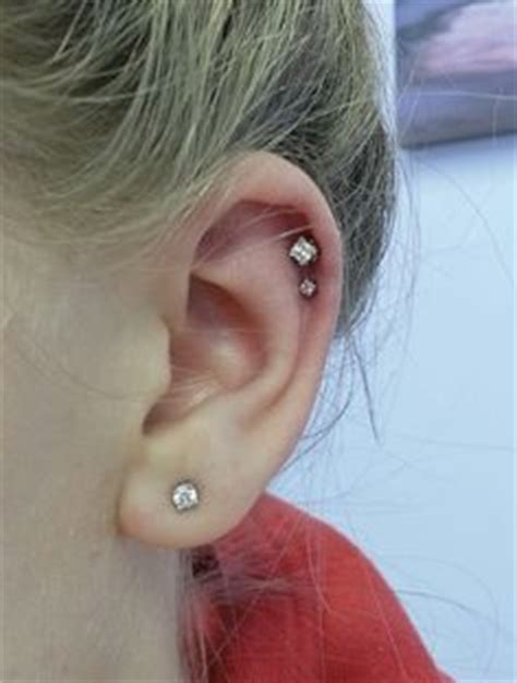 helix haircut simple and cute double cartilage piercing stylin