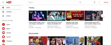 youtube site layout material redesign for youtube rolling out to more users