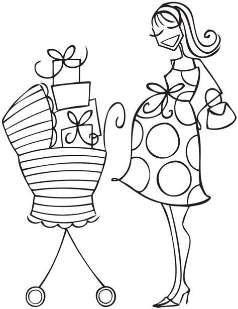 baby carriage coloring pages