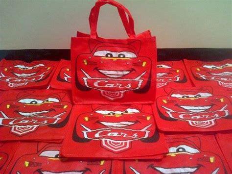Souvenir Ulang Tahun Tas Car goodie bag tenteng medium spunbond karakter harga murah