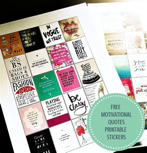 printable quotes planner motivational quotes printable stickers a freebie for you