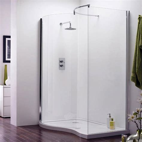 Shower Doors And Trays Aegean Universal Walk In Enclosure W Shower Tray Waste At Plumbing Uk