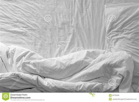 top bedding sheets top view of bedding sheets and pillow stock photo image