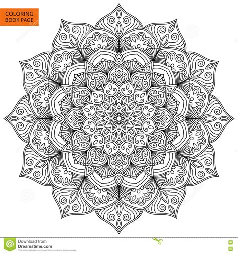 garden an coloring book books coloring book page with flower mandala stock vector