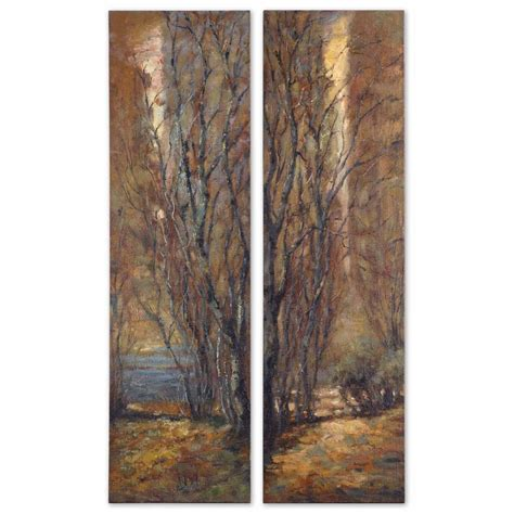 tree panels canvas wall set of 2