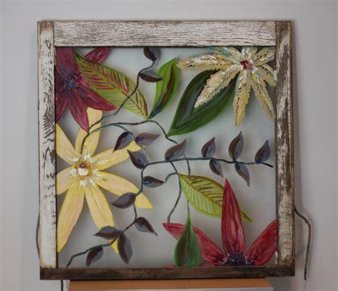 acrylic painting glass christie 104 window turned original